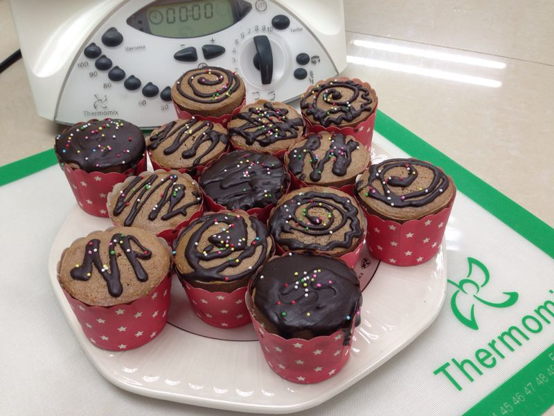 Coffee Chocolate cup cake - THERMOMIX